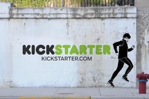 Kickstarter Logo on a Wall