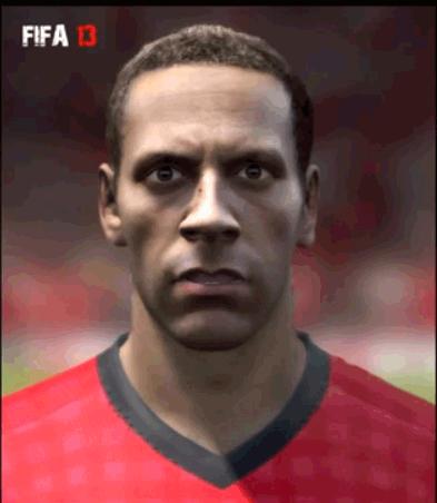 Rio Ferdinand looking scary in Fifa 13